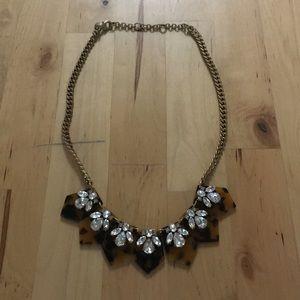 J Crew Tortoise/crystal Necklace